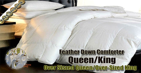 100 white goose feather down comforter 955 queenking size high quality bed comforters