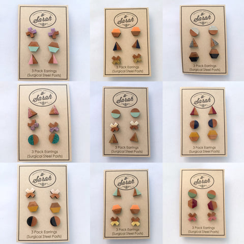 3 Pack of Earrings