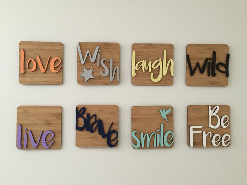 Mini Wooden Word Plaque
