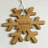 Personalised Snow Flake Decorations