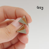 Laser Cut Wooden Triangle Earrings