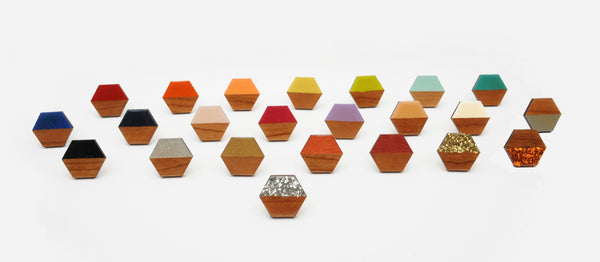Hexagon Wooden Rings