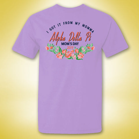 Alpha Delta Pi Mom's Day Tee - Orchid