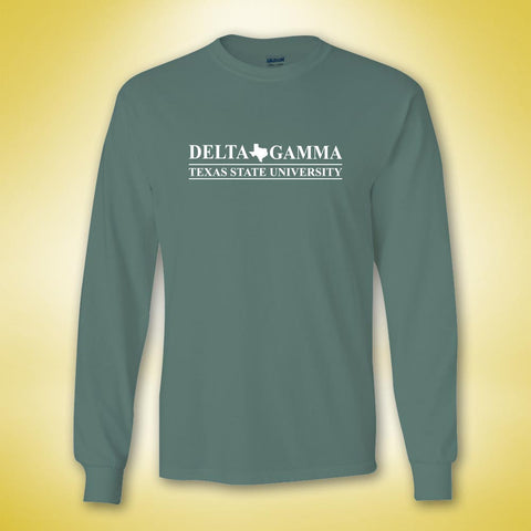 Delta Gamma Classic Be A DG Long Sleeve - Light Green