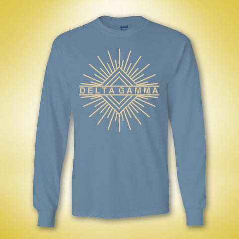 Delta Gamma Minimalist Long Sleeve - Ice Blue