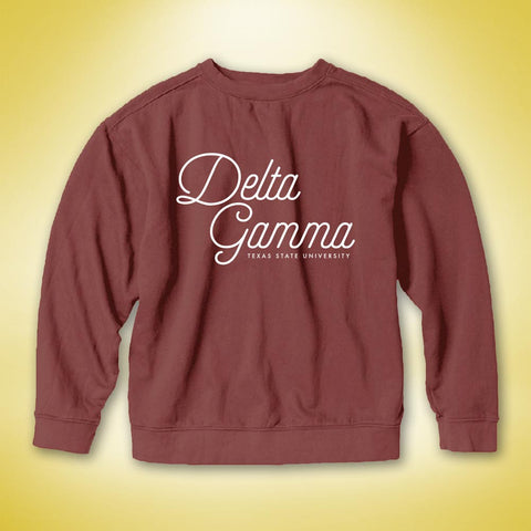 Delta Gamma PR Comfort Colors Sweater - Brick