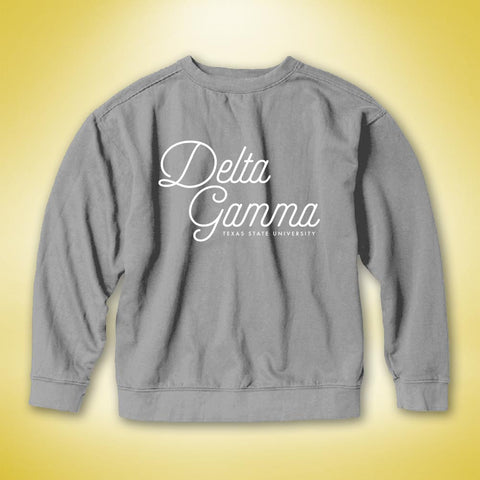 Delta Gamma PR Comfort Colors Sweater - Granite
