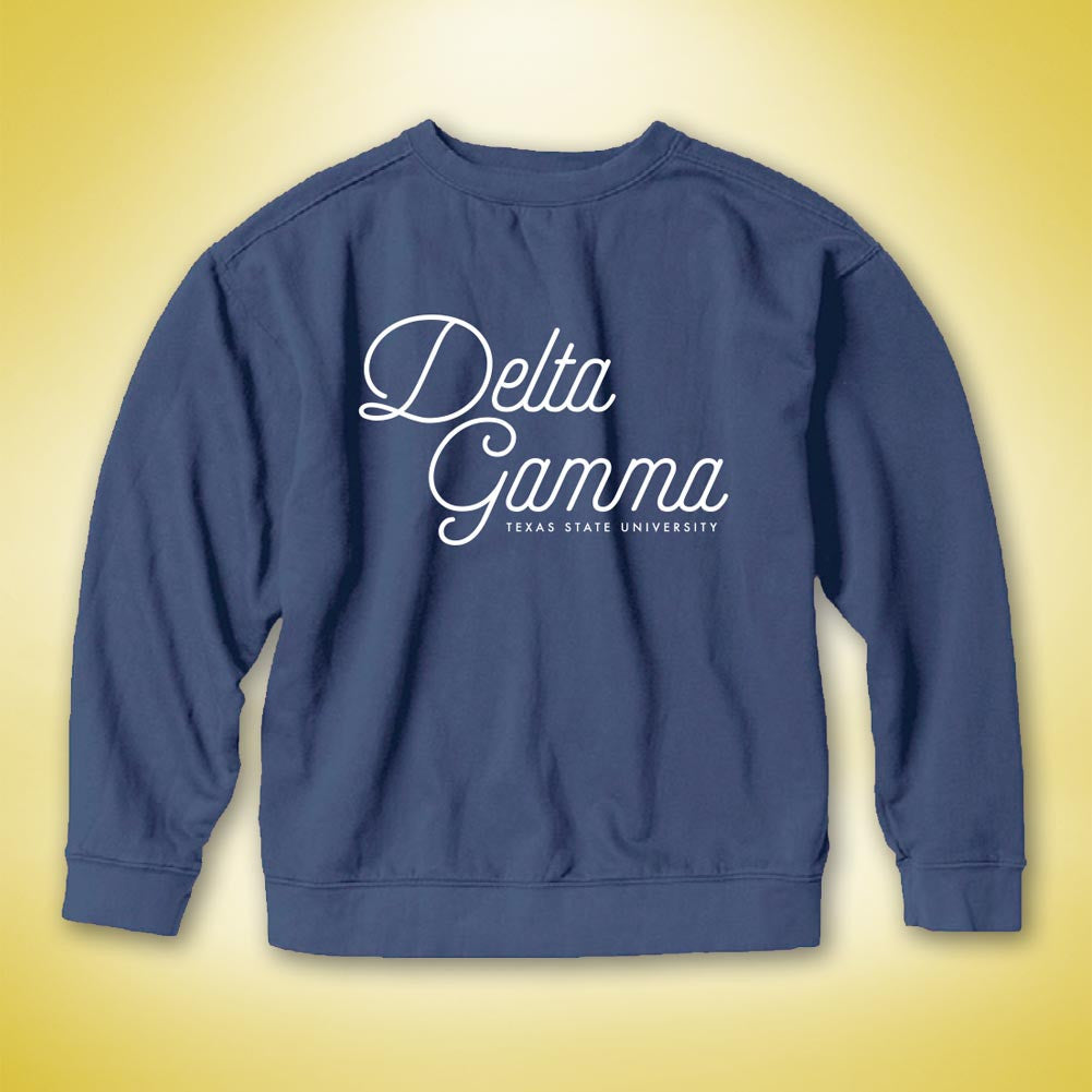 Delta Gamma PR Comfort Colors Sweater - Midnight