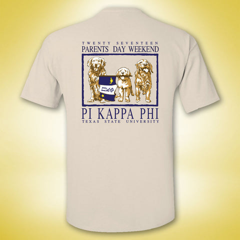 Pi Kappa Phi Parents Weekend Tee - Ivory