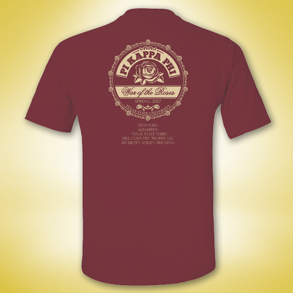 Pi Kappa Phi War of the Roses Tee - Brick