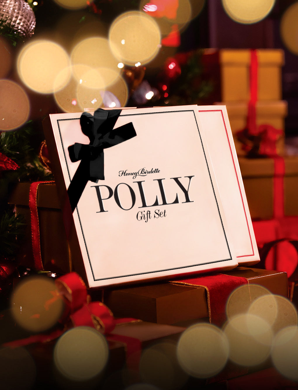 Polly Black Bralette Gift Set