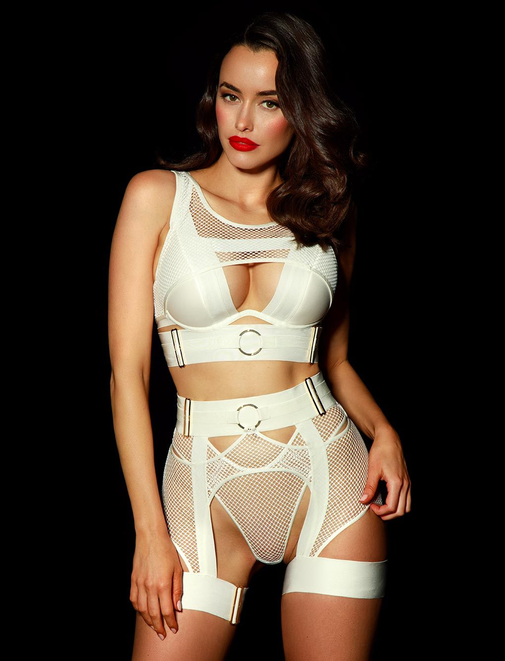Axl Ivory Suspender | Shop Suspenders | Honey Birdette