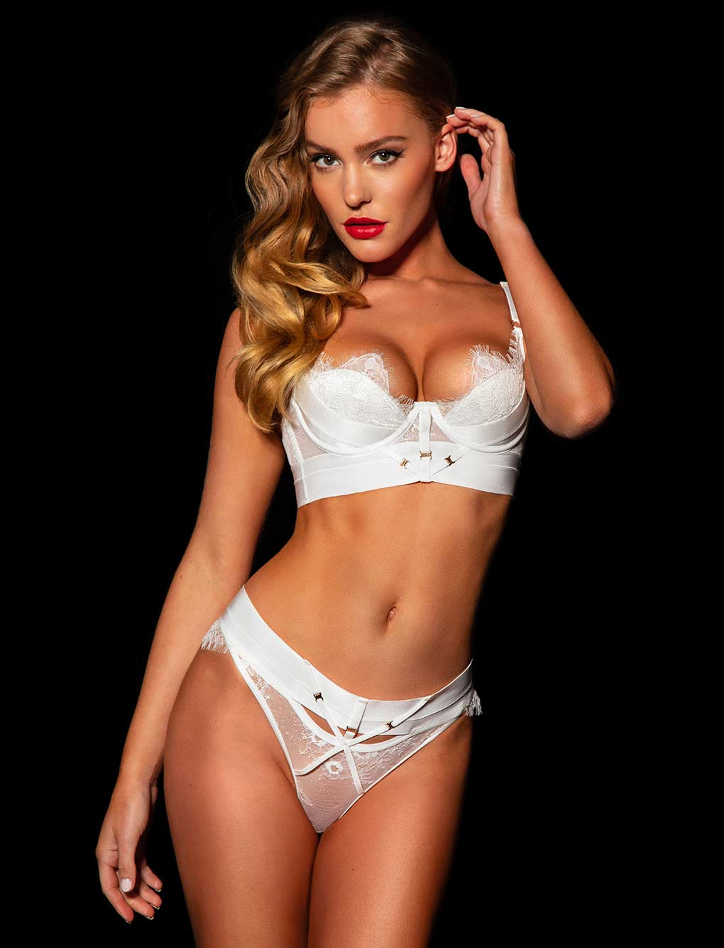 Belinda Ivory Bra & Bottoms Set
