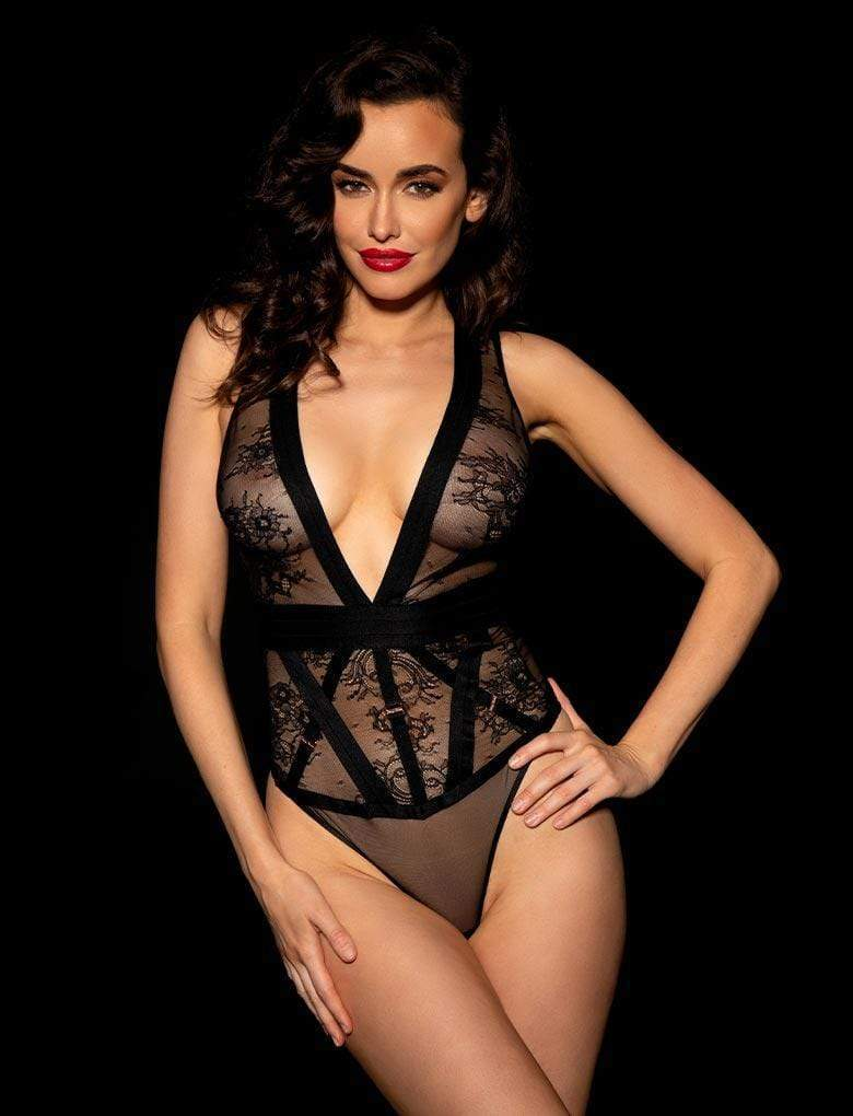 Belinda Shimmer Bodysuit - Shop Bodysuit | Honey Birdette UK