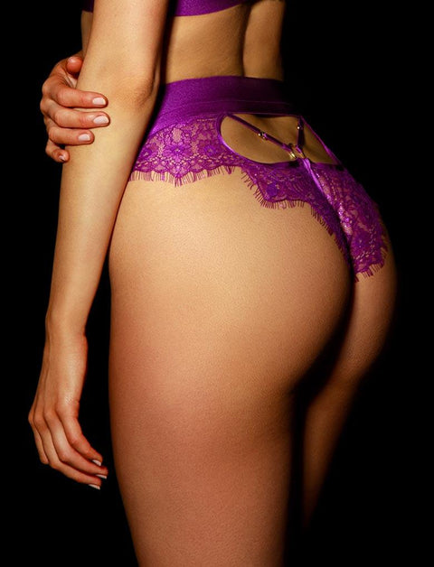 Belinda Purple Brief | Shop Briefs | Honey Birdette