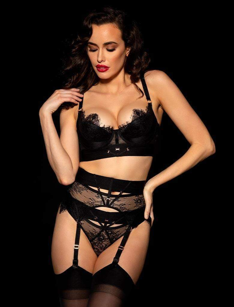 Belinda Shimmer 3 Piece Set - Shop Lingerie Set | Honey Birdette UK
