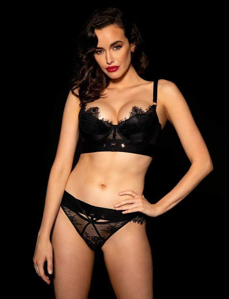 Belinda Shimmer Bra & Bottom Set - Shop Lingerie Set | Honey Birdette UK