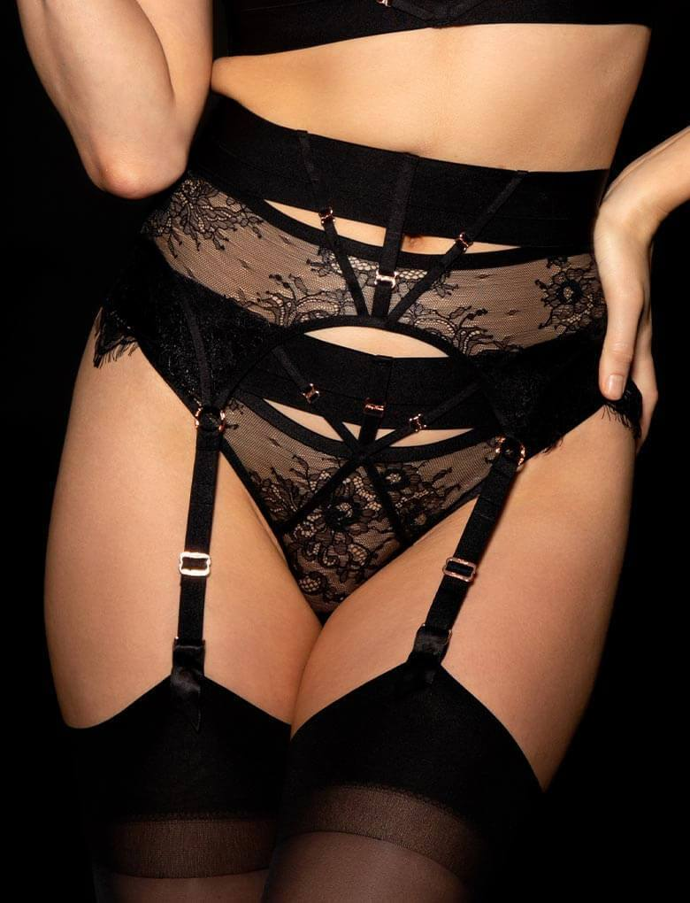 Belinda Shimmer Suspender - Shop Suspender | Honey Birdette UK