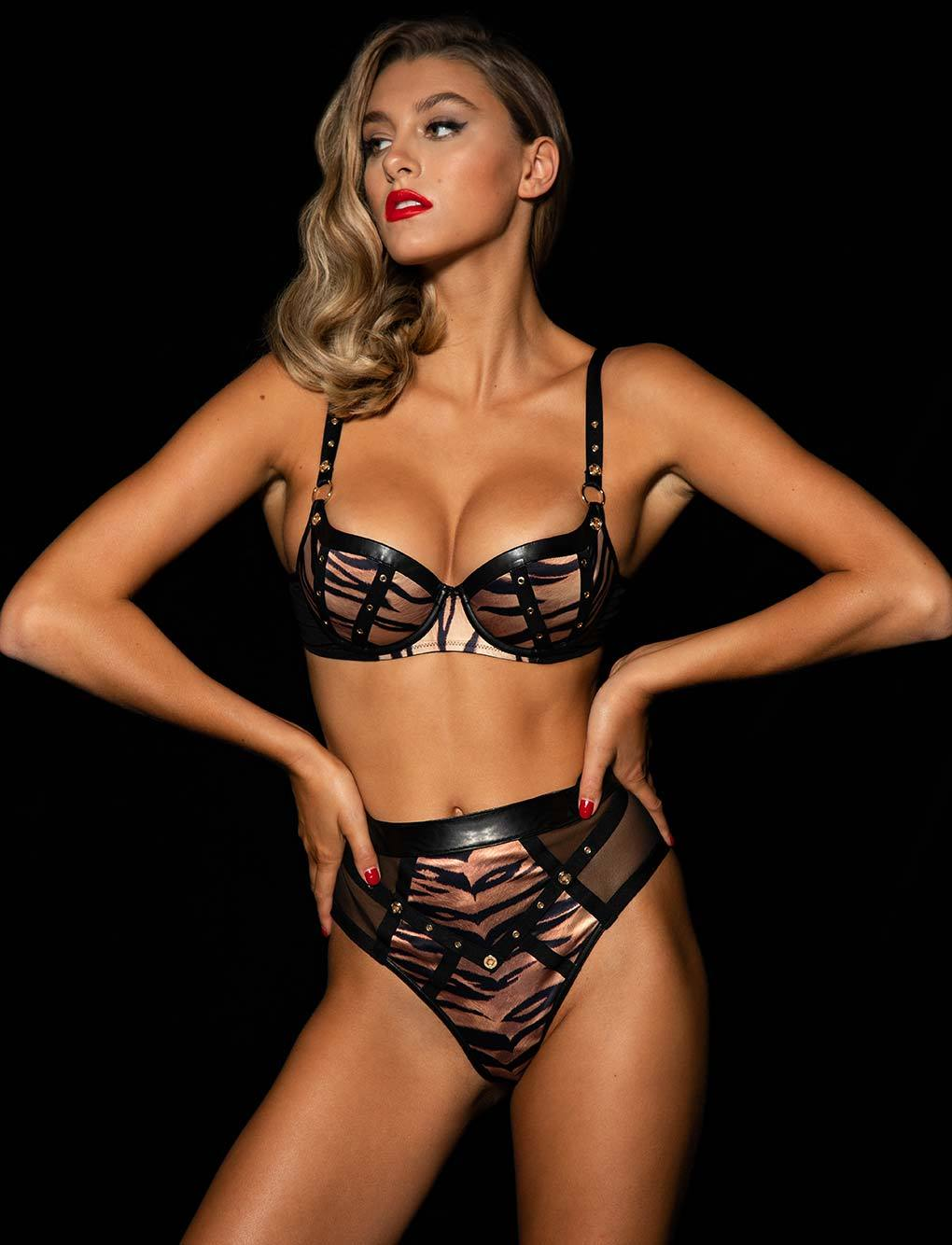 Betty Tiger Bra & Bottoms Set