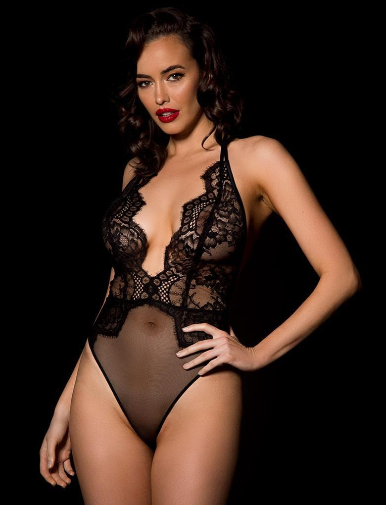 Candice Black Bodysuit - Shop Bodysuit | Honey Birdette UK