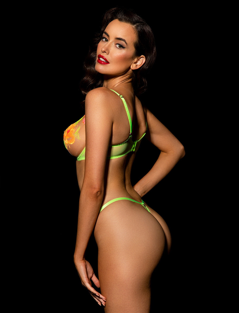 Christine Neon Lingerie Set | Shop Honey Birdette