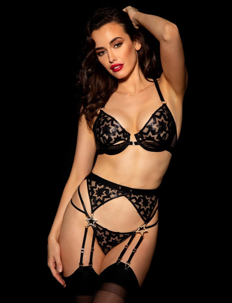 Freddie 3 Piece Set - Shop Lingerie Set | Honey Birdette UK