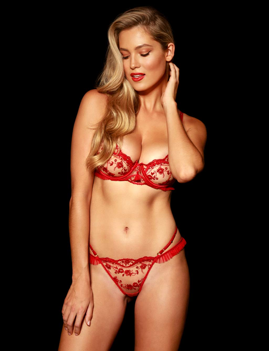 Frida Red Lace Lingerie Set - Shop Lingerie | Honey Birdette