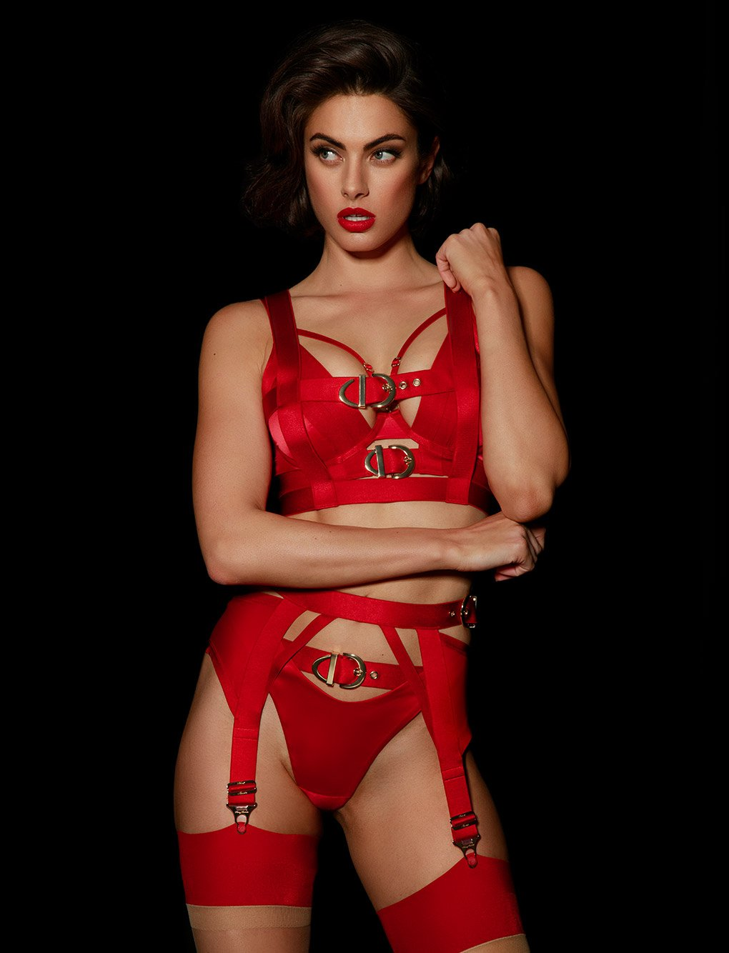 Gia Red Lingerie Set - Shop Lingerie | Honey Birdette