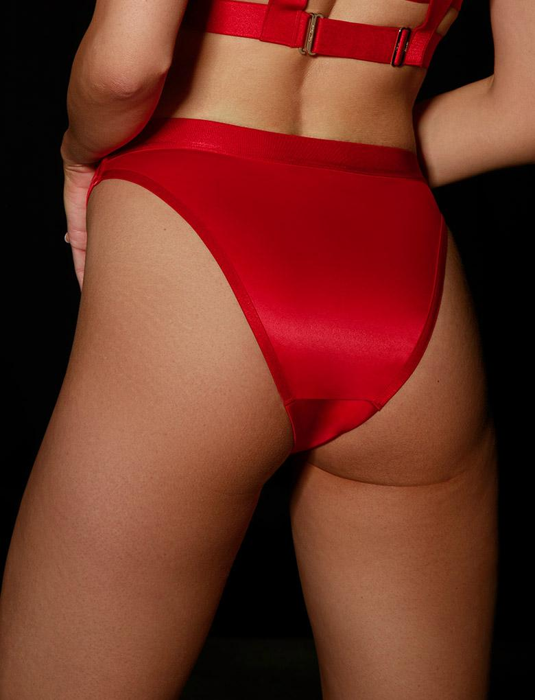 Gia Red Brief | Shop Briefs | Honey Birdette