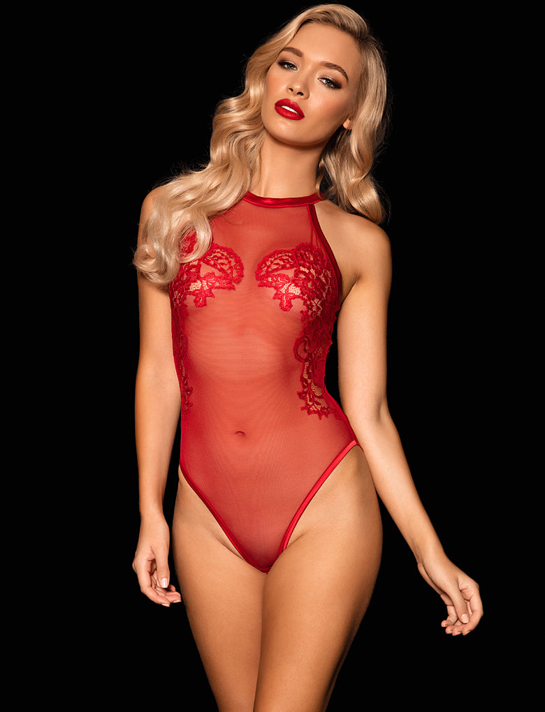 Valentina Playsuit Red
