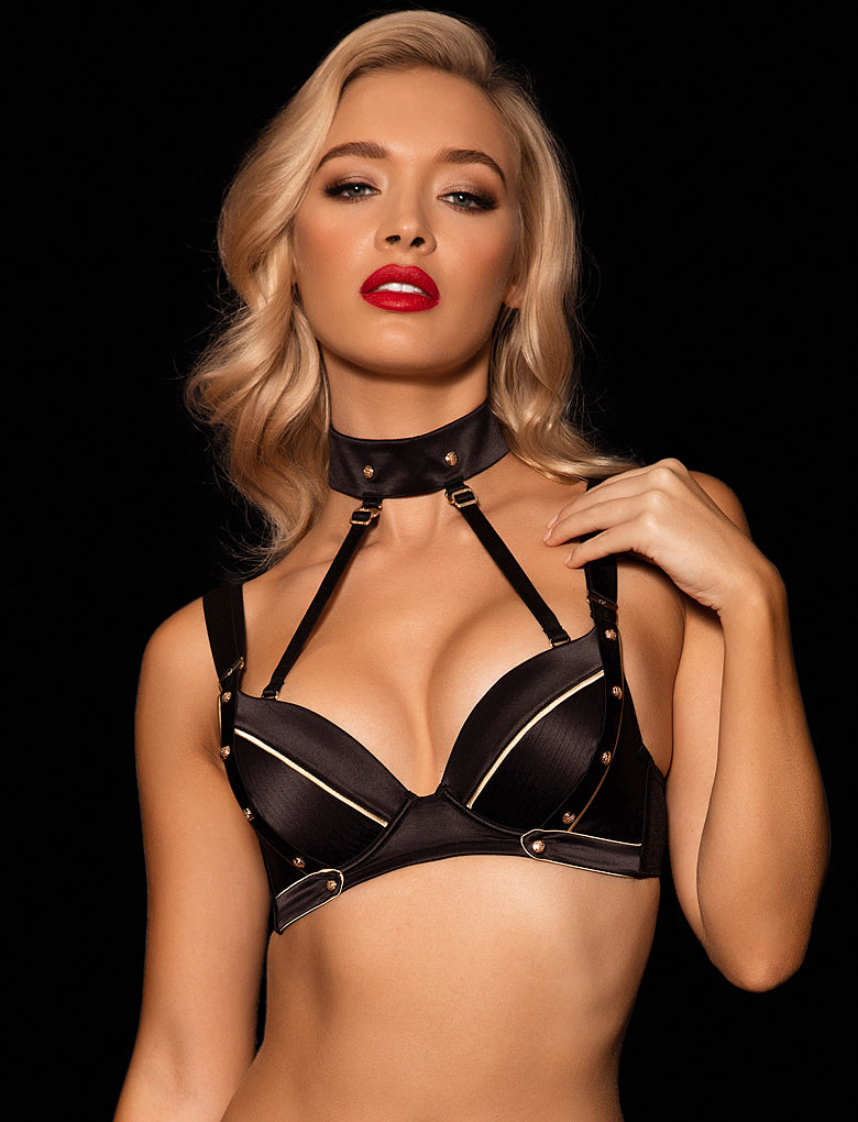 Georgia Bra Black & Gold