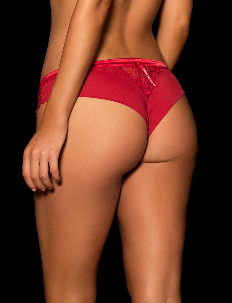 Madame Brief Red & Natural