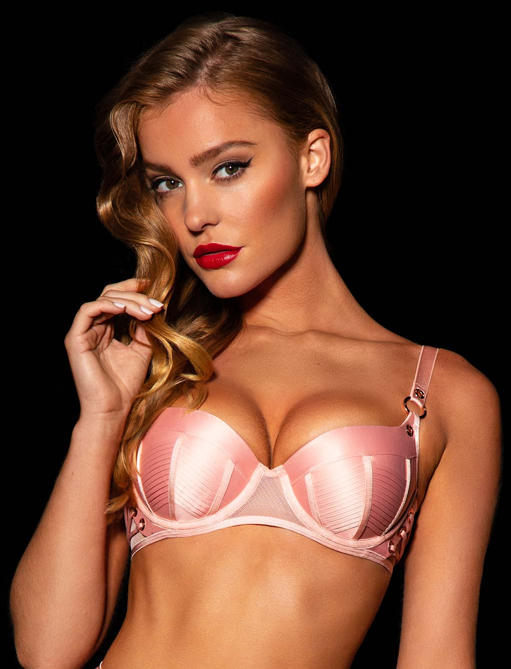 Jerry Pink Push Up Bra | Shop Bras | Honey Birdette
