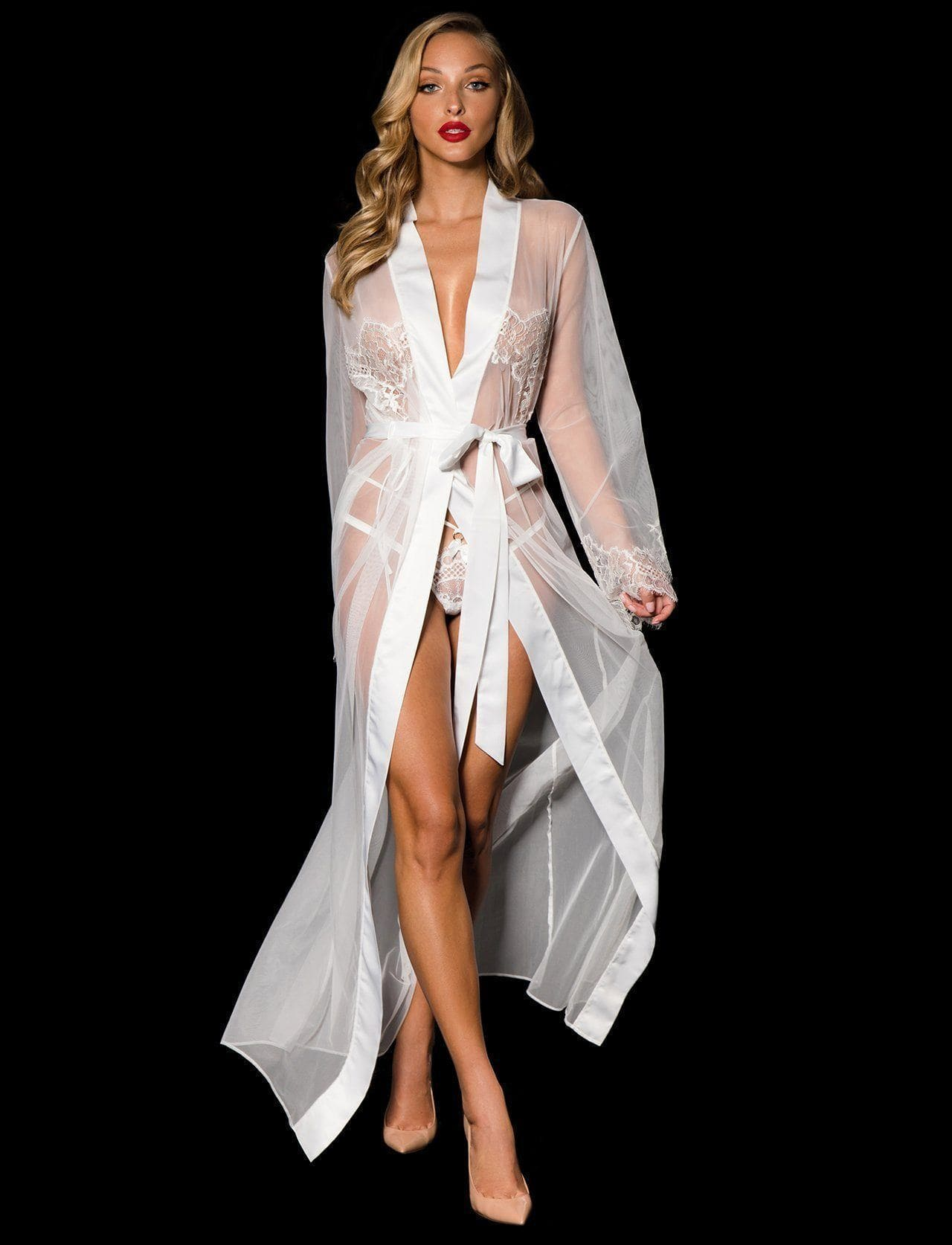 Jessica Ivory Robe - Shop Robe | Honey Birdette UK