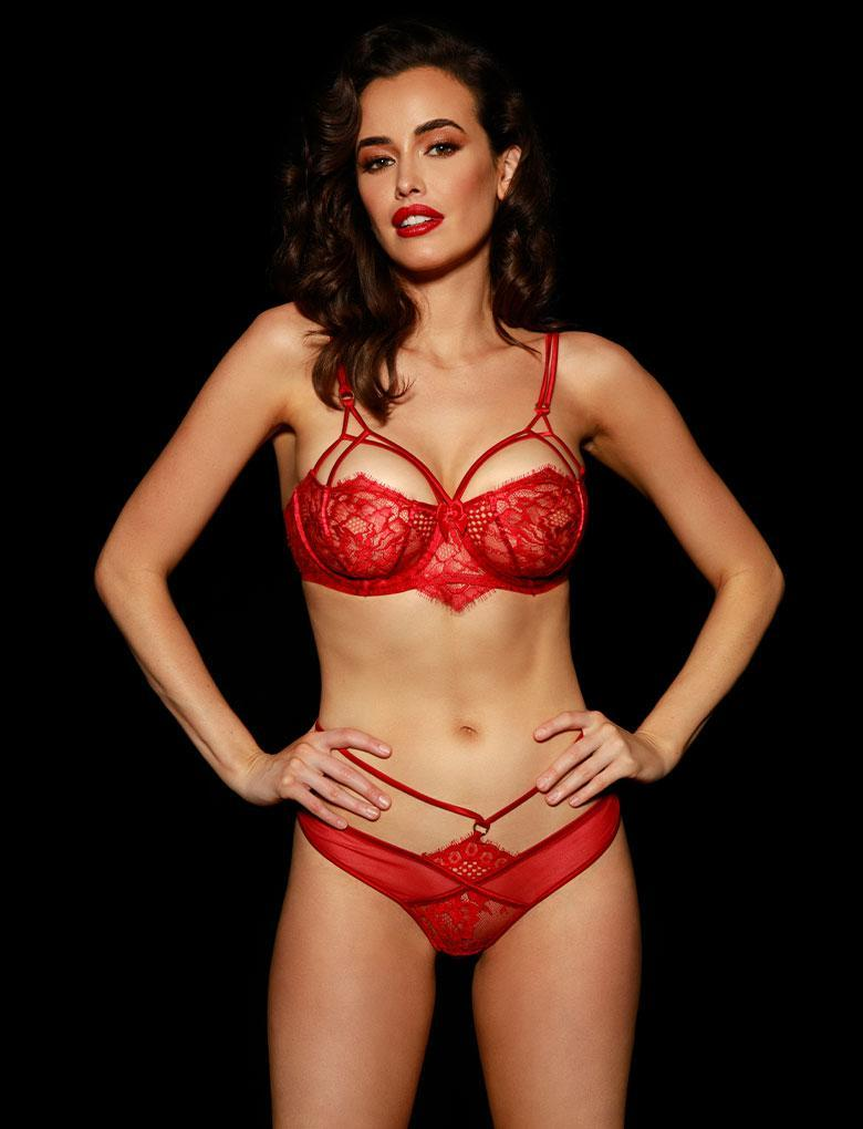 Jessica Red Bra & Bottom Set - Shop Lingerie Set | Honey Birdette UK