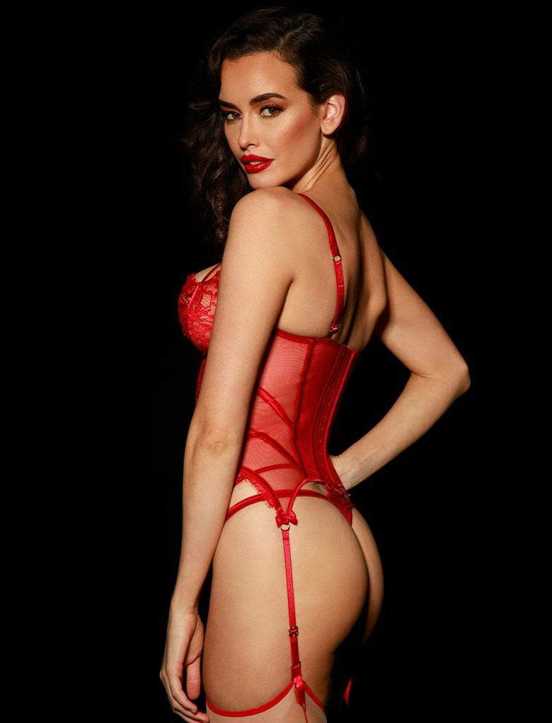 Jessica Red Bustier - Shop Bustier | Honey Birdette UK