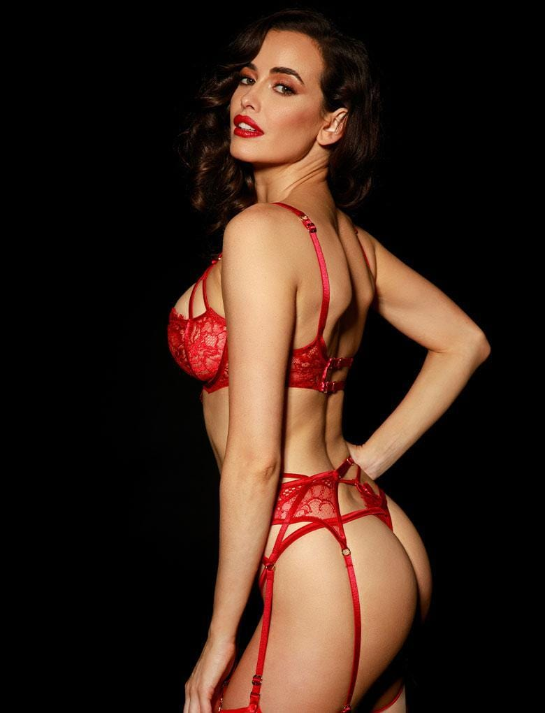 Jessica Red 3 Piece Set - Shop Lingerie Set | Honey Birdette UK