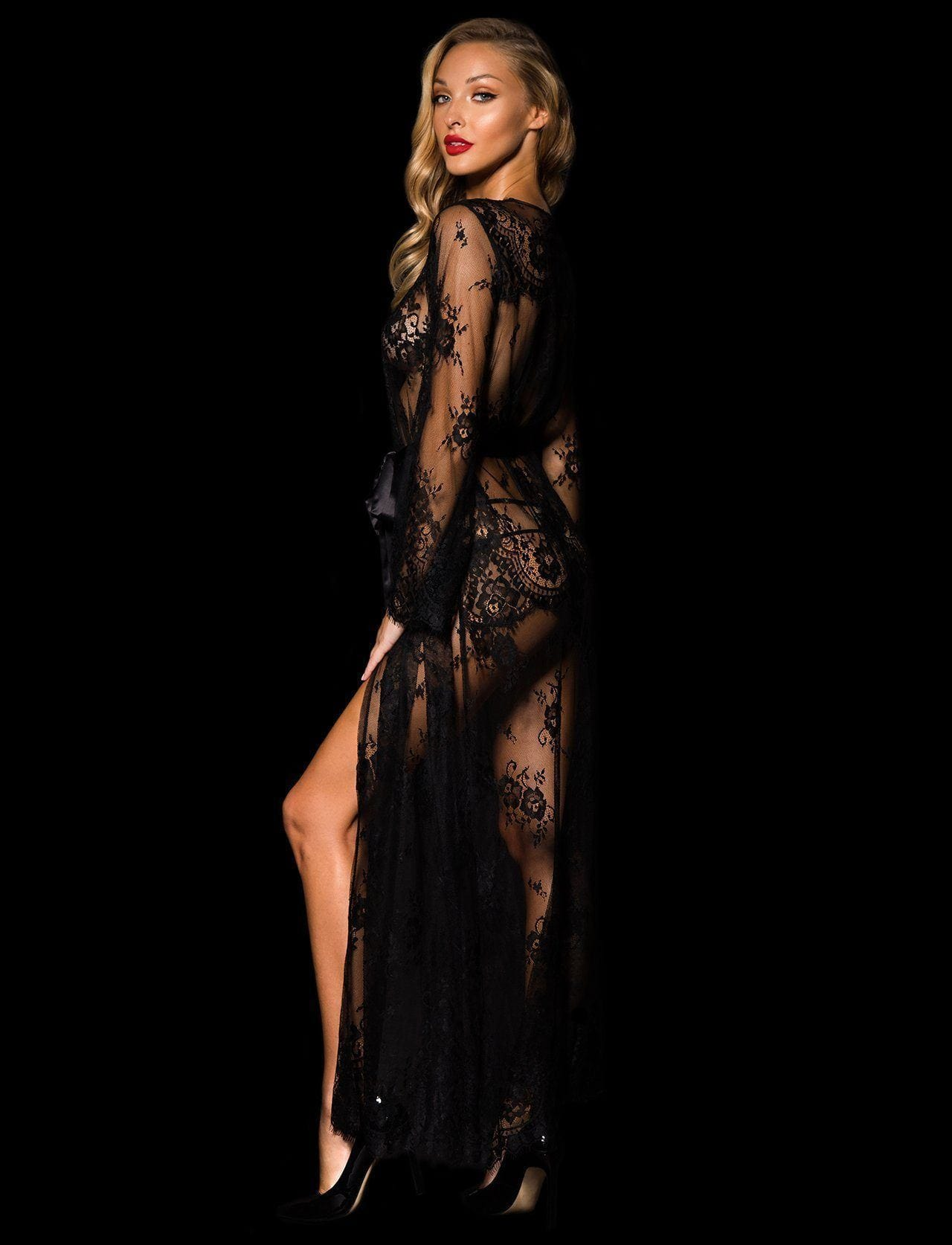 Love Lace Full Length Robe - Shop Robe | Honey Birdette UK