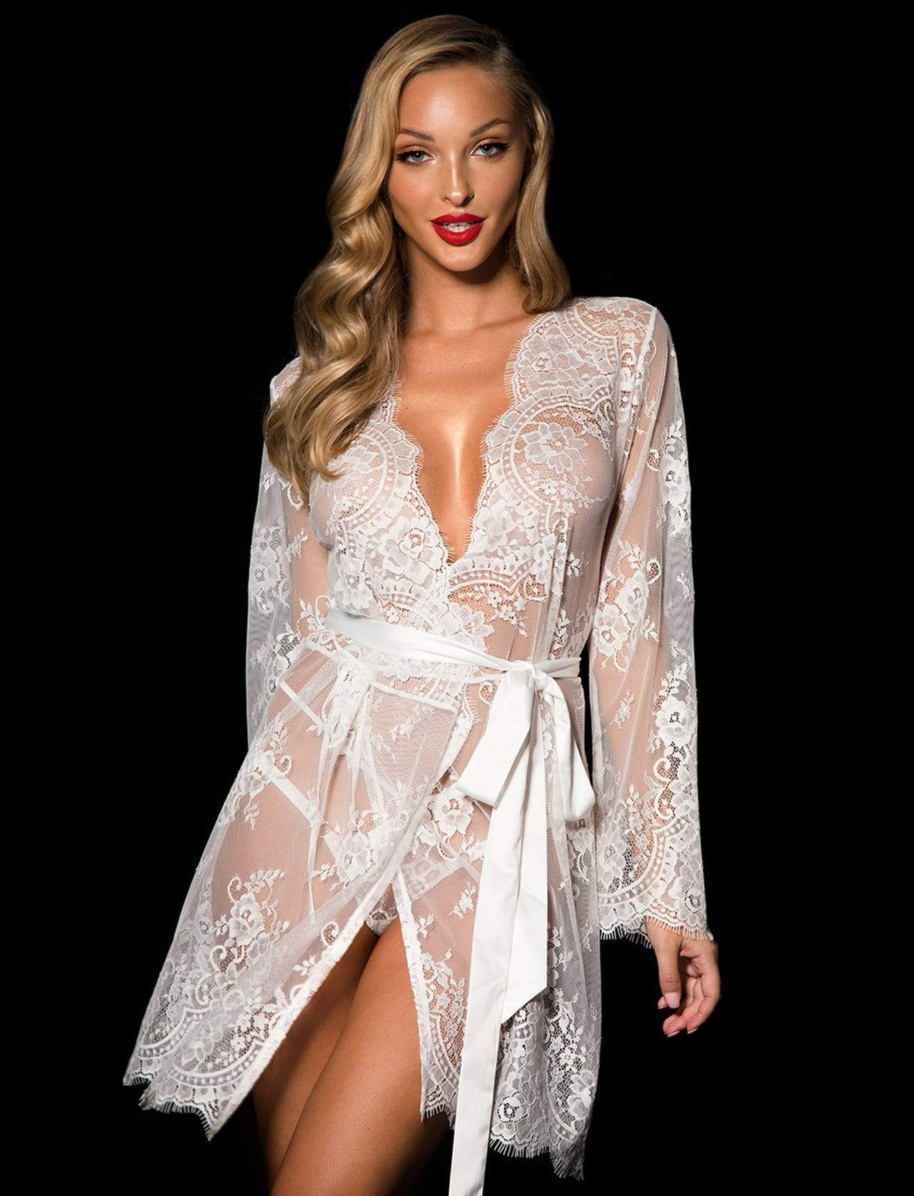 Ivory Love Lace Robe