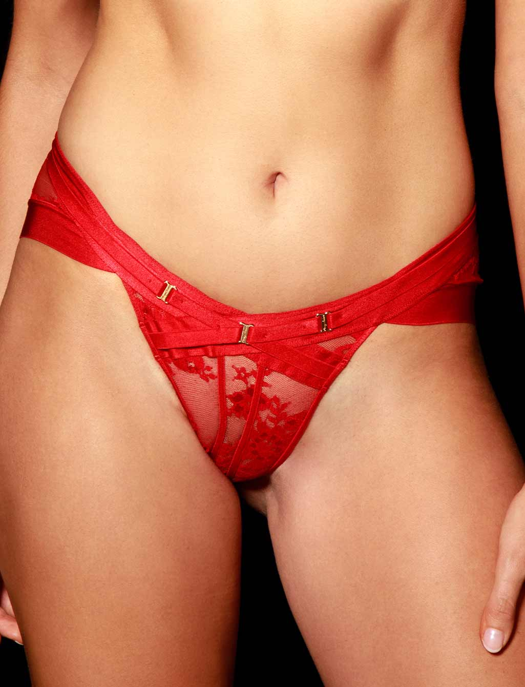 Lucille Sexy Red Lace Brief - Shop Lingerie | Honey Birdette