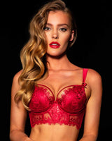 Madame Red Push Up Bra
