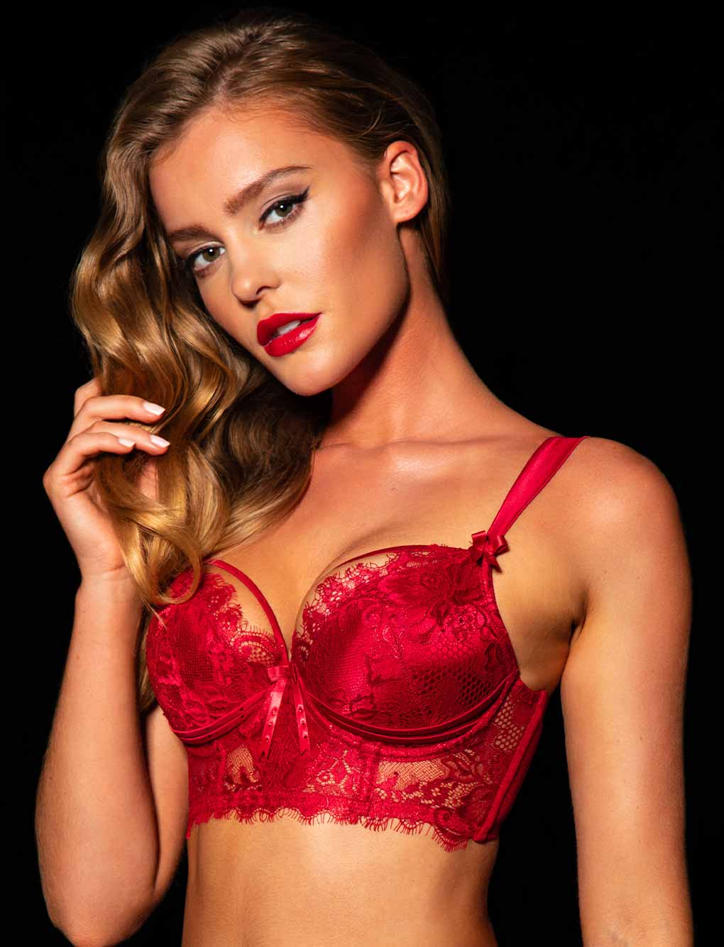 Madame Red Bra & Bottoms Set