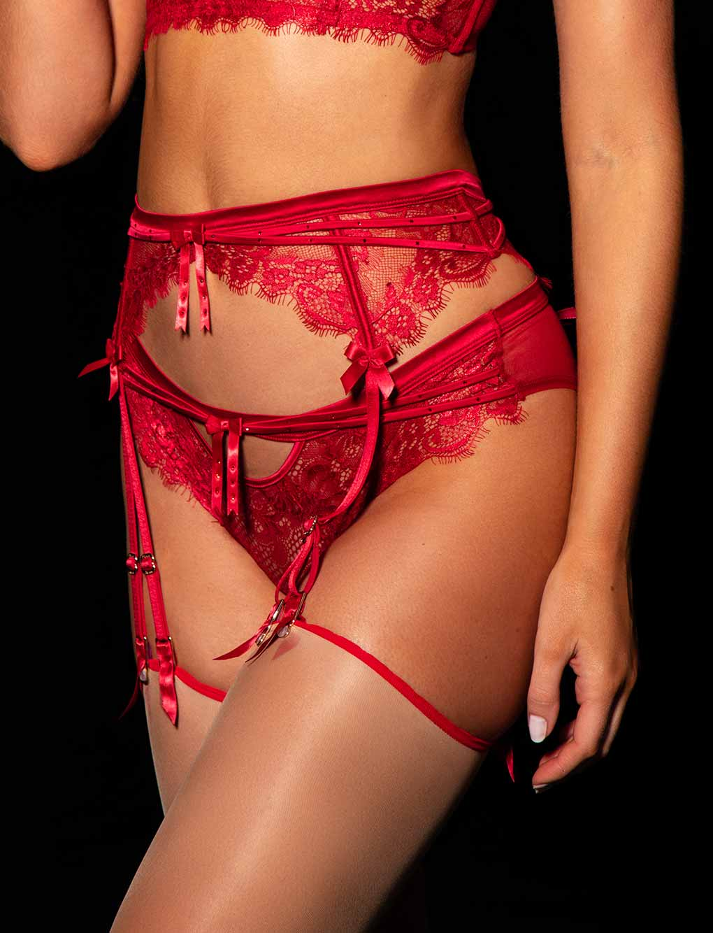 Madame Red Suspender