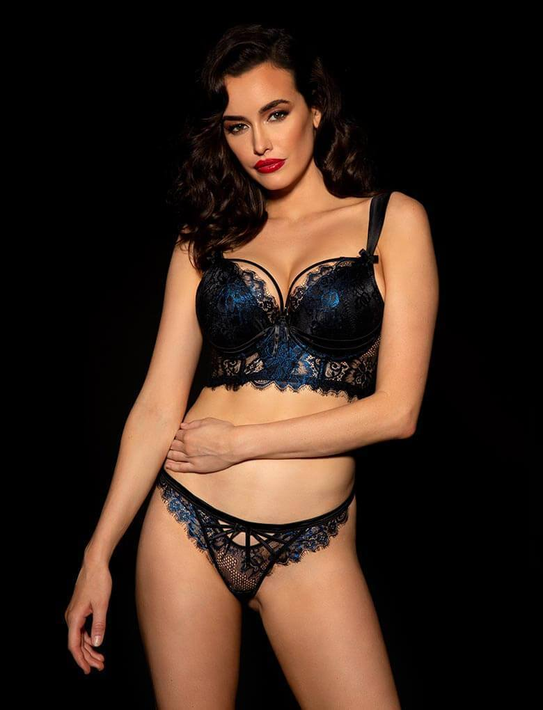 Madame Sapphire Bra & Bottom Set - Shop Lingerie Set | Honey Birdette UK