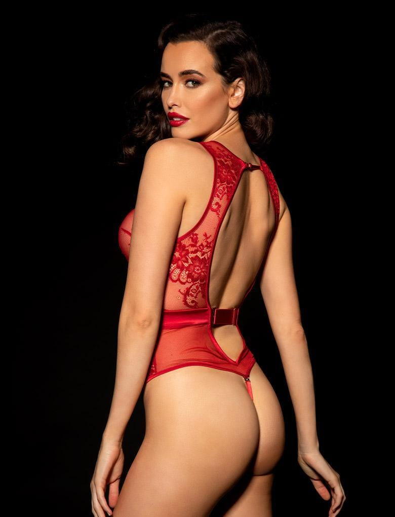 Maria Red Bodysuit - Shop Bodysuit | Honey Birdette UK