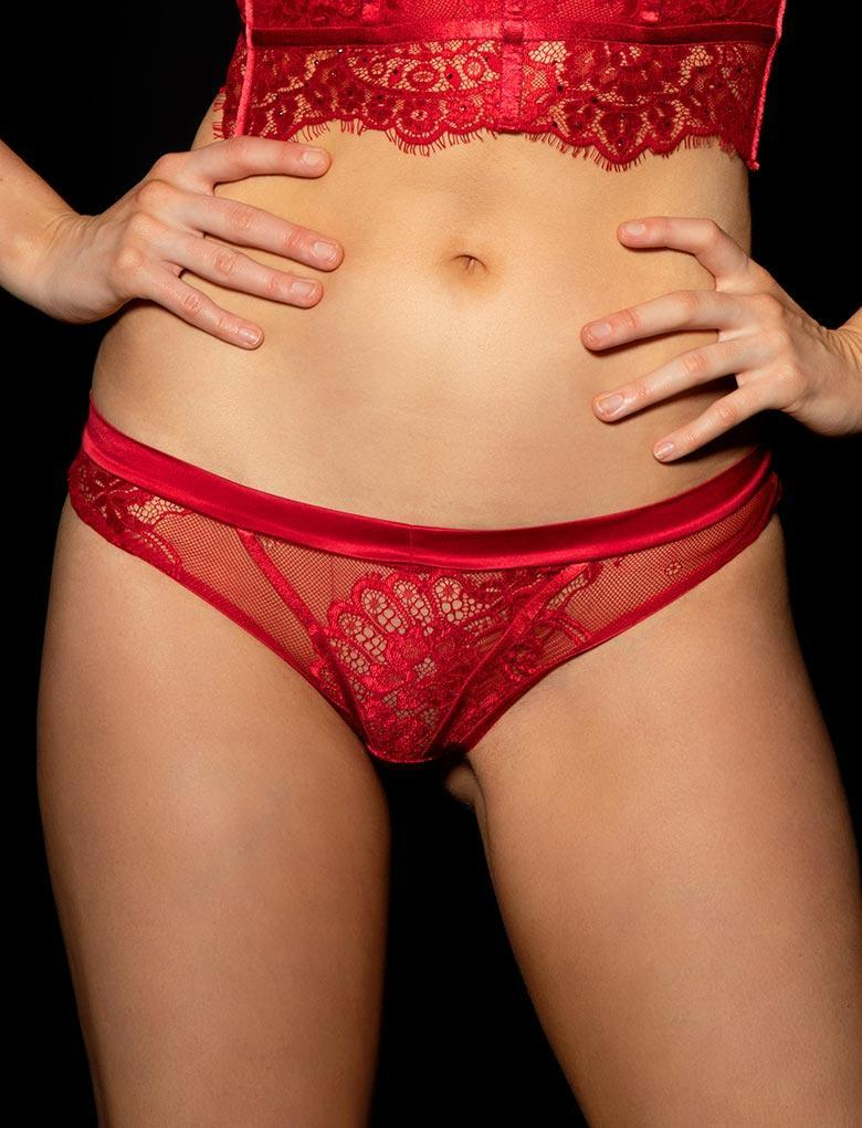 Maria Red Brief - Shop Brief | Honey Birdette UK