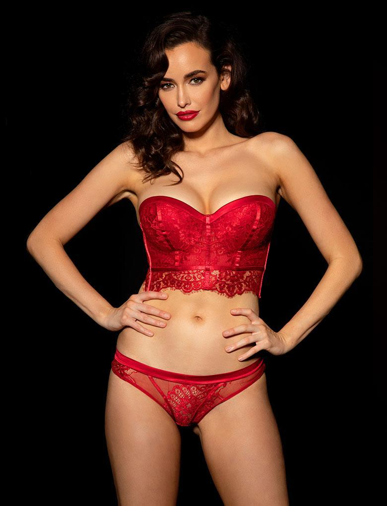 Maria Red Bra & Bottom Set