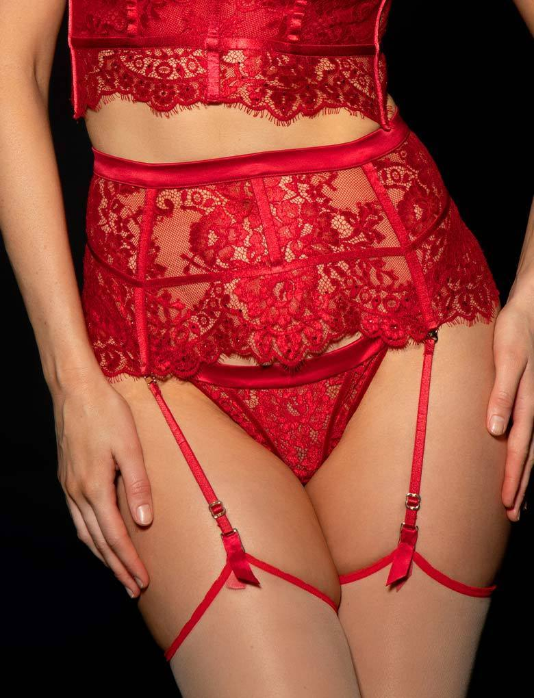 Maria Red Suspender
