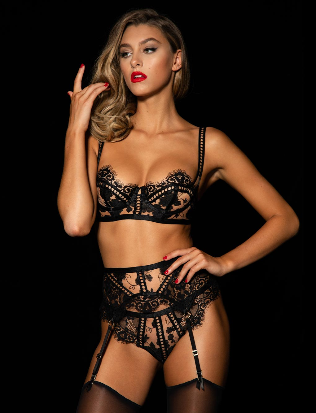 Molly Black 3 Piece Set