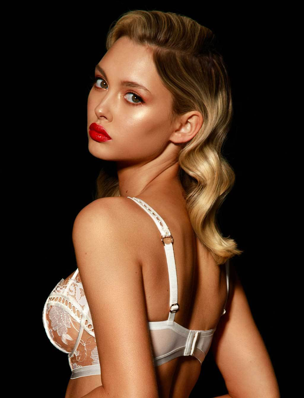 Molly Lace White Ivory Bridal Underwire Bra | Shop  Lingerie Honey Birdette